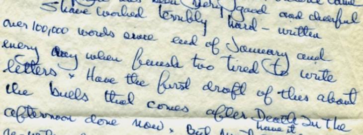 hemingway handwriting