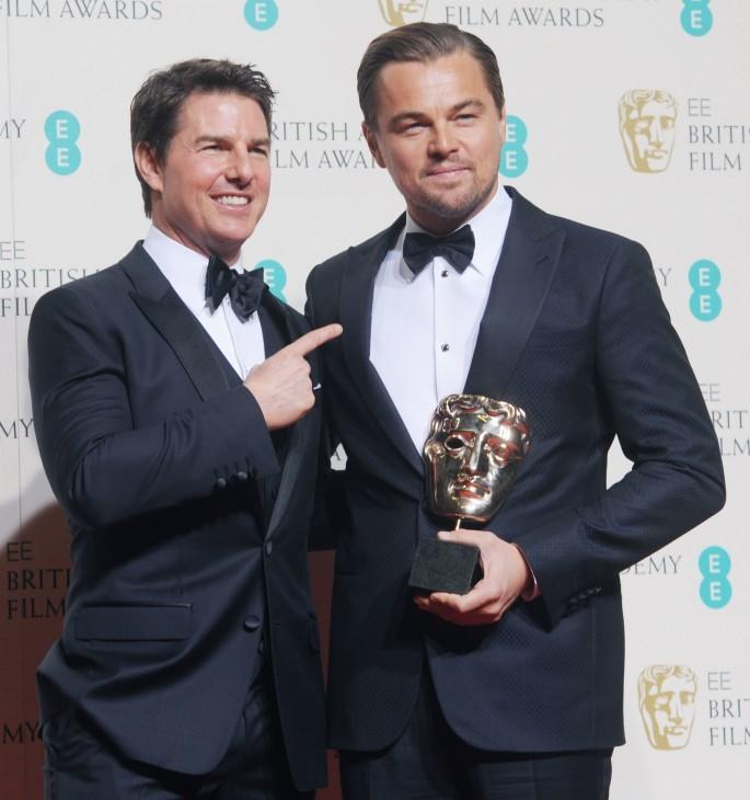 EE British Academy Film Awards (BAFTA) Awards Winners Room 2016.Featuring: Leonardo DiCaprio, Tom Cruise. Where: London, United Kingdom. When: 14 Feb 2016.